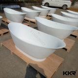 De kunstmatige Freestanding Badkuip van de Oppervlakte van de Steen Acryl Stevige