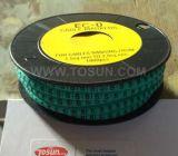 Marcador de cable resistente al calor de PVC