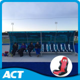 Asientos jugador de béisbol del cobertizo del blanqueador portátiles para Campo de fútbol