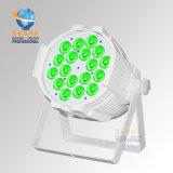 La IGUALDAD ULTRAVIOLETA de la etapa ligera de la IGUALDAD de la alta calidad 6in1 Rgbaw V18 LED de Rasha 200W puede con el IR teledirigido para la luz del estudio de la etapa