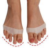 Cellulaire respirant et doux en silicone Gel Toe Pads High Heel Shock Absorption Anti antidérapant Metatarsal Foot Pad Forefoot Pad