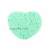 Esponja de celulose facial da limpeza para a escova da composição dos cosméticos limpa
