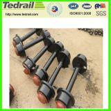 Juegos de ruedas de acero vehículo ferroviario Coach/ Vagón aplicada