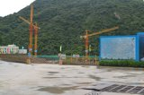 Grúa hidráulica del material de construcción