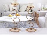Candela di Tealight della decorazione del metallo, supporto di candela della colonna