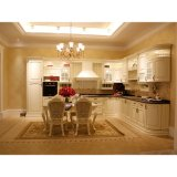 Klassieke Witte Stevige Houten Keukenkasten met Facultatief Eiland