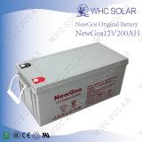 12V 200Ah sans entretien batterie plomb-acide d'énergie solaire