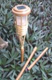 Het trillende LEIDENE van Tiki van de Tuin van het Bamboe ZonneLicht van de Toorts