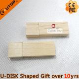 Aandrijving van de Flits USB van het Embleem van de douane de Houten voor de Giften van de Onderneming (yt-8101)