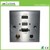 86 tipo hogar elegante del enchufe de socket de la placa frontal de la placa de pared de la aleación de aluminio