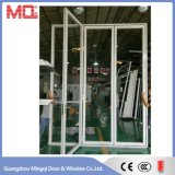 Porte Bifold en aluminium de la Chine avec la glace Tempered