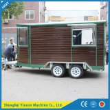 Ys-Fw450 Hot Sale Remorque en bois Mobile Coffee Cart Fast Food Car