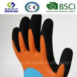 Латекс заморозил перчатки, перчатки работы безопасности отделки Sandy (SL-RS304)