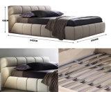 가정 침실 (HC569)를 위한 북유럽 현대 회색 가죽 킹사이즈 베드