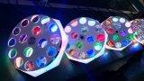 Nouveau 16X3w RGBW Rotation Vortex Flower LED Effet Light pour éclairage de studio