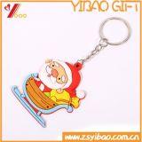 記念品のギフトはクリスマスのkeychain 3D PVCゴム製Keychainキーホルダーを卸し売りする