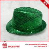 Moda Chapéu de Palha luminoso com lantejoulas para parte e Promoção (CG203)