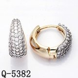 Ювелирные изделия Hotsale фабрики латунные 2 Earrings. CZ тона