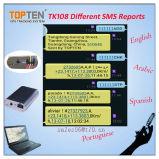 Dispositivo de Rastreamento inteligente com sistema anti-roubo, Lbs + SMS, preço de fábrica, alta qualidade, Língua Espanhola (TK108-KW)