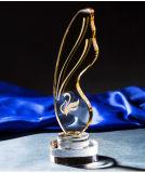 Trofee van het Kristal van de Trofeeën van de Toekenning van het Glas van het Kristal van Nice de Gele