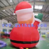 De verscheepte Sneeuwman van Kerstmis van de Orde Opblaasbare/de Opblaasbare Sneeuwman van Kerstmis met LEIDEN Licht voor Festival
