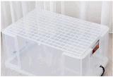Hotsaleの高品質の透過プラスチック収納箱の世帯の食糧衣服のためのスタック可能記憶のケース