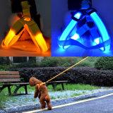 Trela de incandescência recarregável da segurança do chicote de fios do gato do cão de animal de estimação do diodo emissor de luz