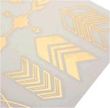 Autoadesivo provvisorio impermeabile metallico del tatuaggio della freccia della piuma di uccello dell'oro