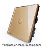 シルクスクリーンによって印刷されるカラーパターンが付いている接触スイッチパネルガラス