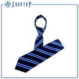 Cravate uniforme tissée par soie classique de pistes bleues