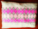 Coussin en fil de coton tricoté