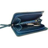 Карманн деньг блока цвета застежка-молнии хорошего качества бумажник PU круглого кожаный квадратный с металлом логоса