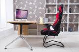 Участвовать в гонке красный цвет стула офиса рамки металла PU типа разыгрыша кожаный