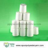 50/2 Fibra de confecção de malha de poliéster branco 100% branco