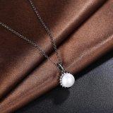 Ювелирные изделия способа женщин черноты ожерелья Inset диаманта перлы привесной покрынные пушкой