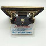 rectángulo posterior del socket del suelo del color del oro de la aleación de cobre de la talla de 120*120m m