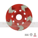 La flèche de 5 pouces segmente la roue de cuvette de diamant meulant pour le granit
