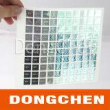 Collant bon marché d'hologramme de la coutume 3D de petite couleur argentée ronde