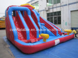 Inflável 3 Lanes Water Slide with Pool