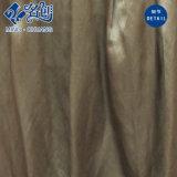 Taupe sedoso sedoso sin mangas de cuello redondo Exposing-Back Fashion Ladies Dress