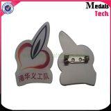 Pinos novos do Lapel do logotipo 2D do projeto/3D Costume Impressão Epoxy Companhia com pinos de segurança