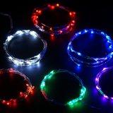 Indicatori luminosi stellati della stringa ricaricabile a pile LED del collegare di rame di aa per DIY