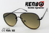 Forma clássica do metal com a lente cabida sobre os óculos de sol quentes da venda do frame Km17104