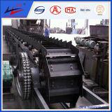Transportador de cinto reversível e os componentes do transportador
