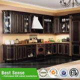 Vlakke MDF van het Huis van het Pak Klassieke Moderne Houten Keukenkast
