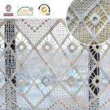 Tessuto del merletto del reticolo della grata di diamante, materiale fragile E20026 di modo morbido