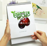 Calendario di scrittorio su ordinazione di stampa di colore completo 2017, commercio all'ingrosso del calendario della Tabella