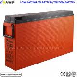 Длинний тип батарея геля фронта терминальные для телекоммуникаций/солнечно, FL12-100ah