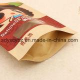 El bolso de /Ziplock de las bolsas de papel de Kraft se levanta la bolsa para el conjunto del bocado