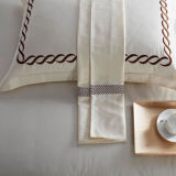 300tc綿綿繻子の極度の柔らかい二重囲まれたステッチされた枕カバー